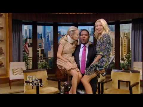 Kristin Chenoweth And Kelly Ripa Get A Lift On live! With Kelly And Michael video