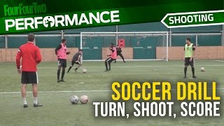 Soccer shooting drill: Turn, shoot, score – every time | MK Dons Academy