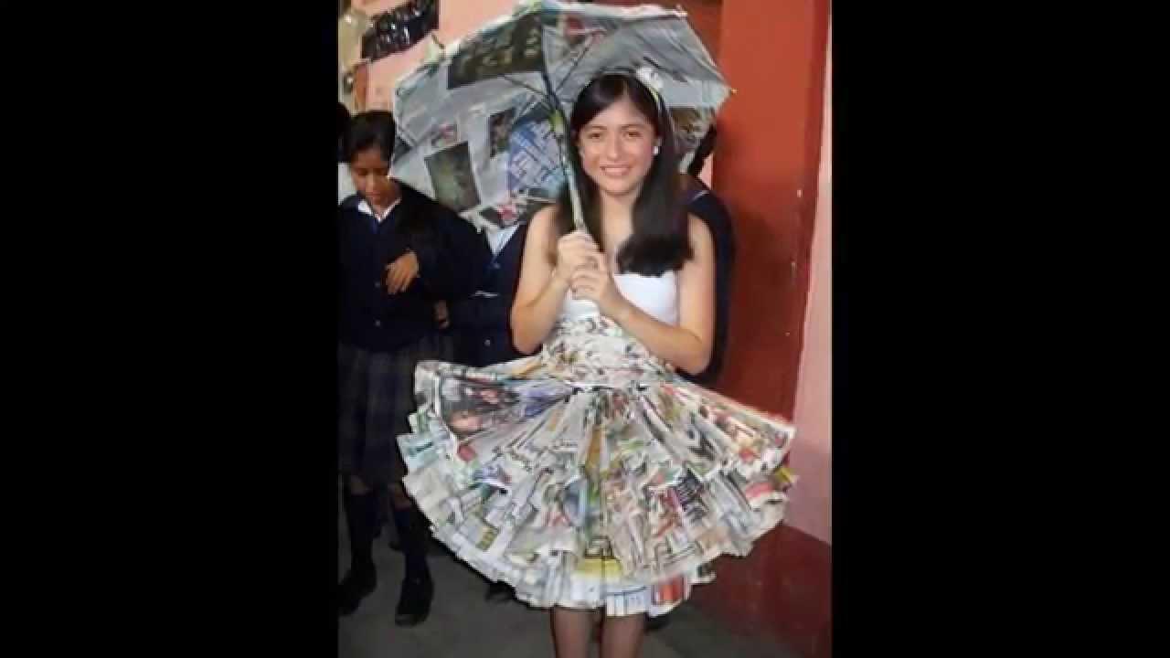 Imagenes De Vestidos Para Nina's Con Materiales Reciclables