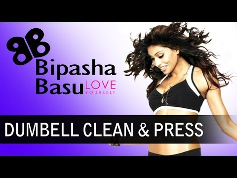 Bipasha Basu - Love Yourself - Exercise - Dumbell Clean And Press Image 1