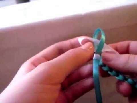 Плетение фенечек из двух