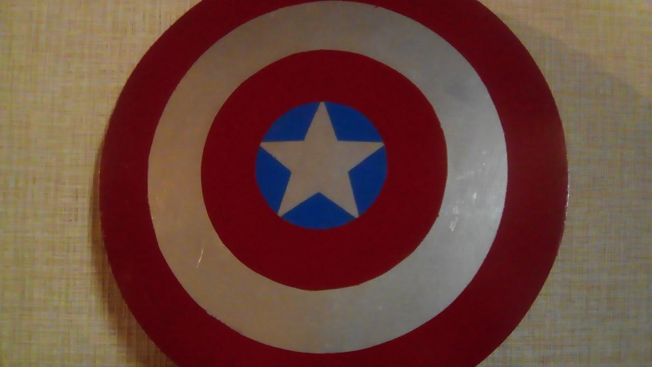 Щит капитана америки из картона своими руками 49