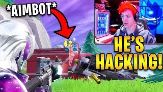 Ninja Gets DESTROYED By Aimbot Hacker Then Spectates & Reports Him! | Fortnite Highlights