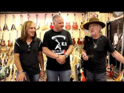 Brad Whitford and Dave Amato at Norman's Rare Guitars