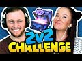 Clash Royale | OWNING FACE IN THE 2v2 CHALLENGE! (silly decks...