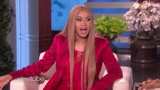 Cardi B on Ellen show