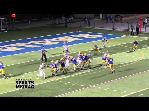 Downingtown East Football vs The Haverford School 9-12-14 TD2