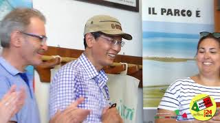 delegazione Cinese è stata ospitata nel museo dell'ocarina di Benvenuto Fecchio a Grillara