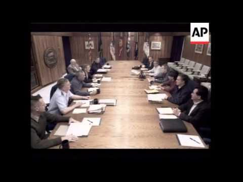 Radio address with new still of Bush and senior advisors