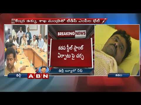 TDP MPs Met Union Minister Birender Singh Over Kadapa Steel Plant