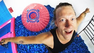 Impossible Backflip into Zorb Ball! (BROKEN TOE)