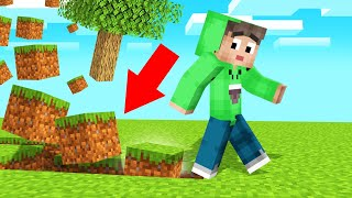 Touch BLOCK = FLOAT In MINECRAFT! (World Ends)