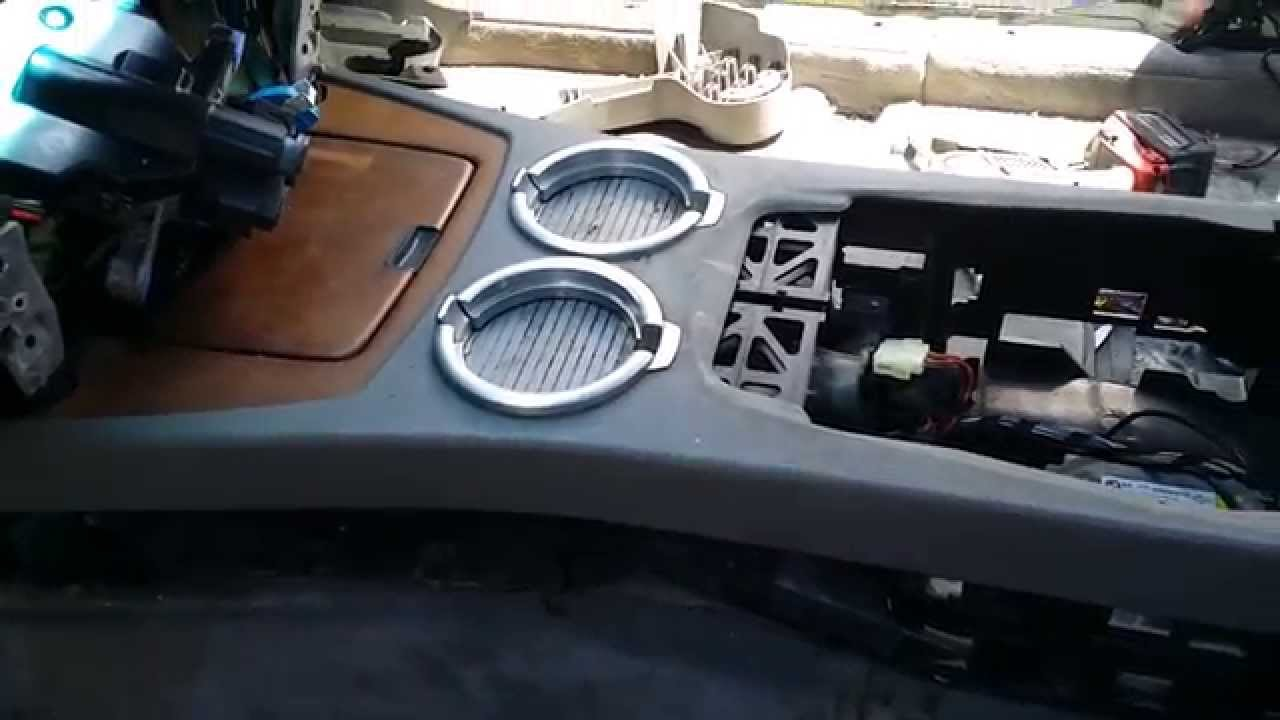Bmw 745 750 Cup Holders Storage Airbag Sensor Removal Part 2 Youtube