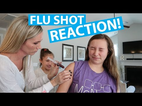DOING OUR FLU SHOT AT HOME!