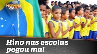 Hino nas escolas e leitura de lema de Bolsonaro: a ideia do MEC pegou mal