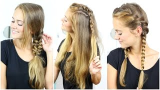 EINFACHE FLECHTFRISUREN + FAKE BRAID - easy hairstyles for long hair