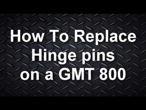How to replace Hinge pins (99-02) Silverado / Sierra