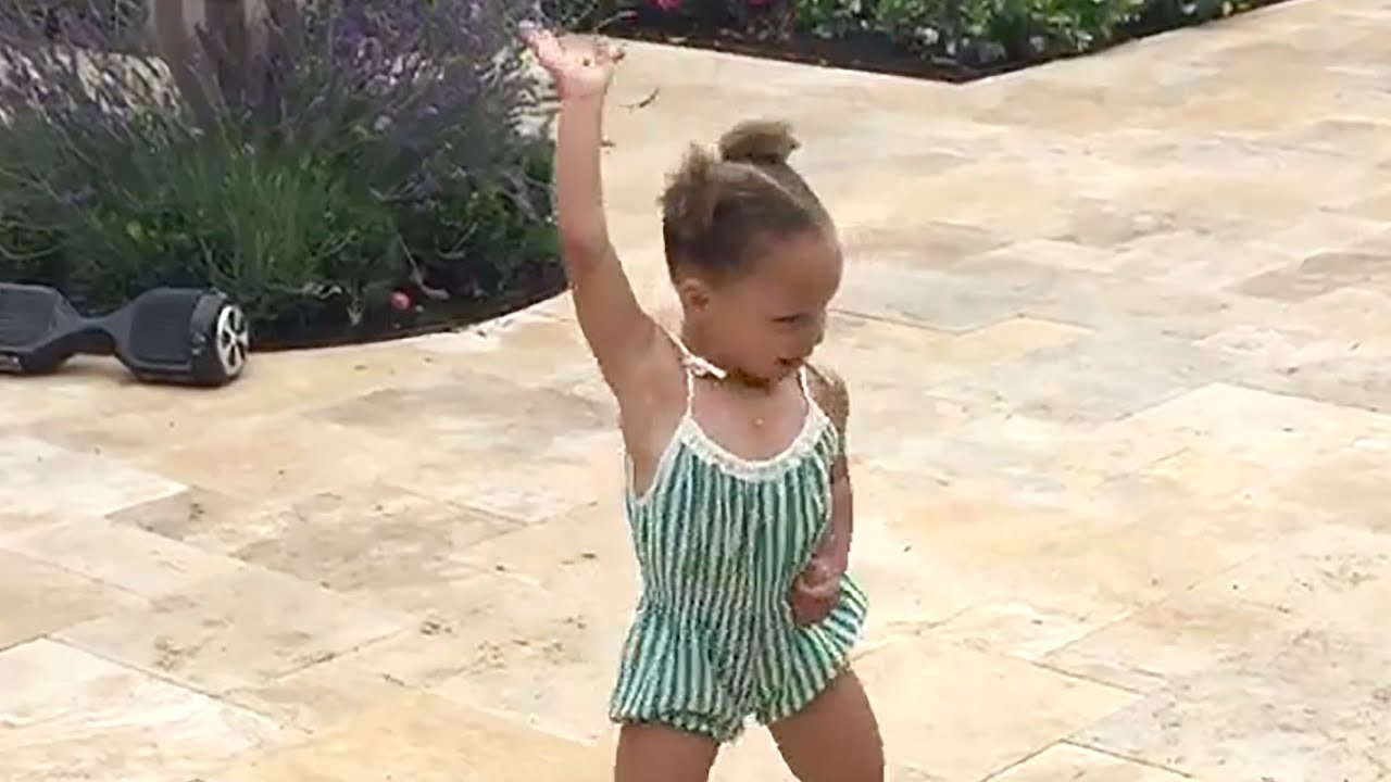 riley curry does whip amp nae nae dance at birthday party