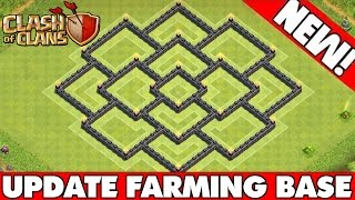 "Clash Of Clans | ""NEW UPDATE"" TOWN HALL 8 FARMING & TROPHY BASE! Best TH8 Hybrid Base Defense CoC"