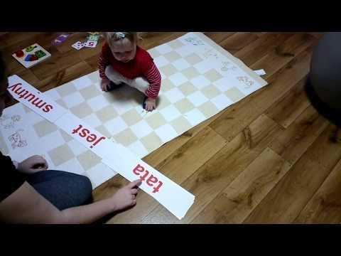 Nauka Czytania Dla Dzieci Metodą Domana - Układanie Prostych Zdań