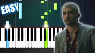 Download Lagu ZAYN - Dusk Till Dawn ft. Sia - EASY Piano Tutorial by PlutaX Gratis STAFABAND