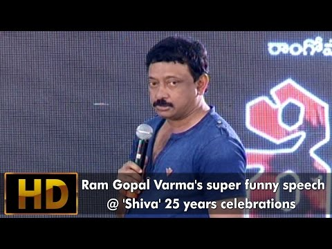 Ram Gopal Varma's Funny Speech At 'Shiva' Movie 25 years celebrations