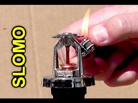 How do fire sprinkler heads work