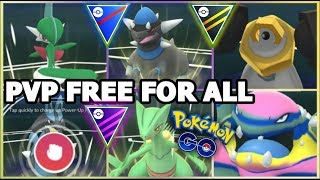 FREE FOR ALL PVP BATTLES IN POKEMON GO   GREAT ULTRA & MASTER LEAGUE