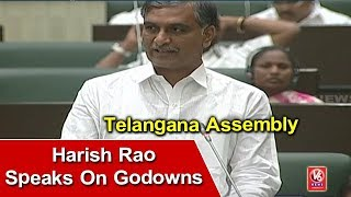 Irrigation Minister Harish Rao Speaks On Godowns In Telangana Assembly