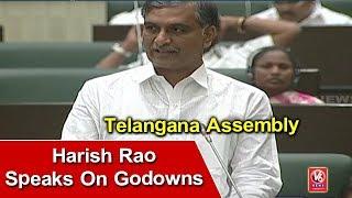 Irrigation Minister Harish Rao Speaks On Godowns In Telangana Assembly