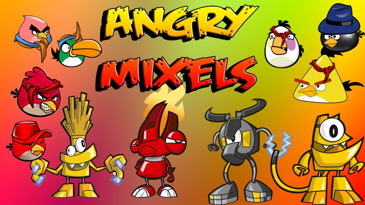Angry Mixels Angry Birds Meet Mixels Youtube