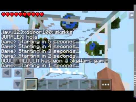 Server de Sky Wars para Minecraft Pe 0.10.4