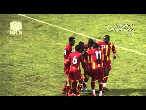 08-02-2011  Ghana 4 - 1 Togo: Goals at Bosuilstadium