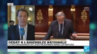 Le Parlement français débat de la reconnaissance de l'Etat palestinien