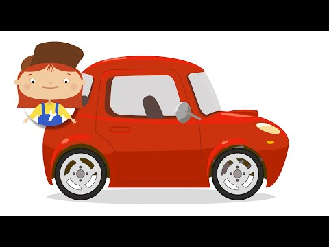 Kid's Car Cartoons. CAR DOCTOR!  FAST SPORTS CAR - Doc McWheelie's Garage!