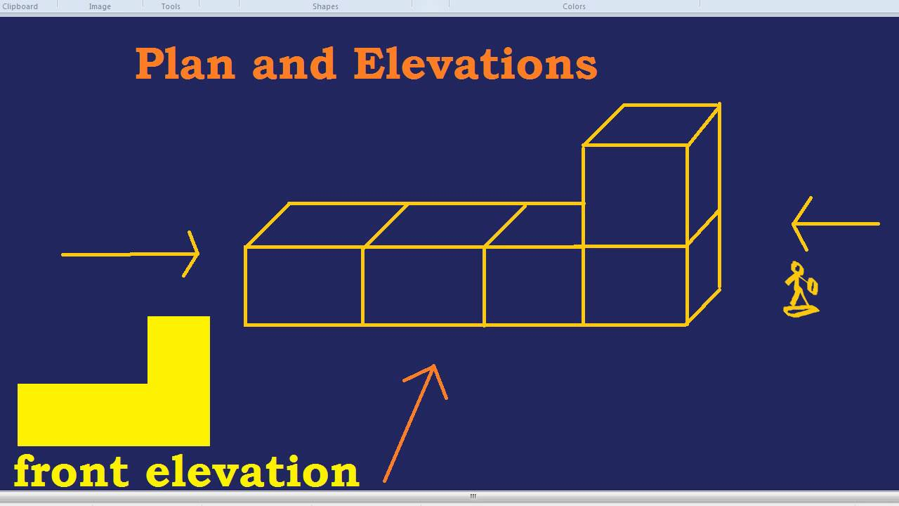 Elevation Plan Maths : Plan and elevations youtube