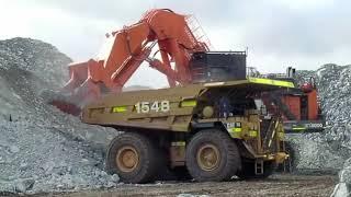 Biggest excavators in the world working , Biggest excavator bucket , Biggest heavy equipment working