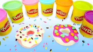 How to make Play-Doh Donuts. Colors for Kids.