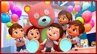 Giant Teddy Bear Teddy Bear Turn Around - After Back To school - Banana Cartoons [HD]