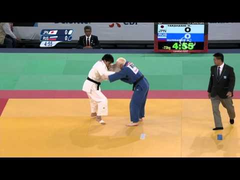 Judo - JPN versus RUS - Men -73 kg Bronze Medal Contest A - London 2012 Paralympic Games
