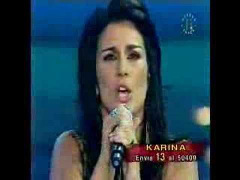 karina en la final disco de oro