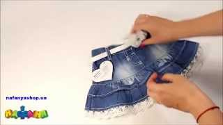 Юбки для девочек из старых джинсов сшить 608