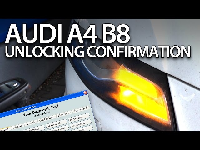 How to enable unlocking acoustic confirmation in Audi A4 ...