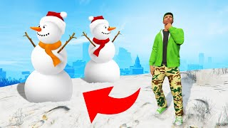 Playing HIDE AND SEEK In The SNOW! (GTA 5)