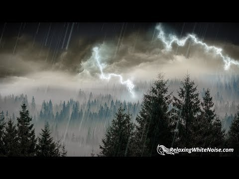 Download Lagu  10 Hours Rain & Thunder   Rainstorm Sounds for Sleep, Studying or Relaxation   Nature White Noise Mp3 Free
