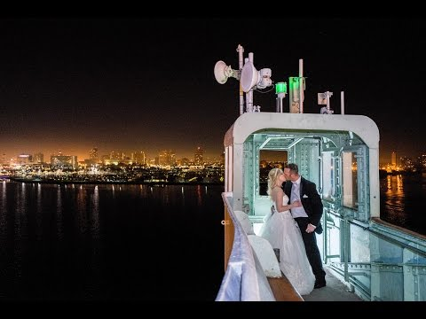 Shooting a REAL Wedding Part 3- Night Time Shoot w/ Off Camera Flash, LED Lighting at the Queen Mary
