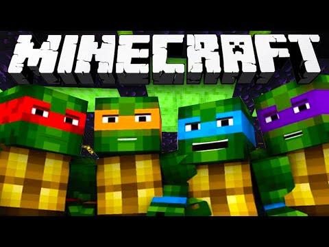 Minecraft - PVP CHALLENGE! Teenage Mutant Ninja Turtles! - w/Preston, Vikkstar, Woofless & Choco