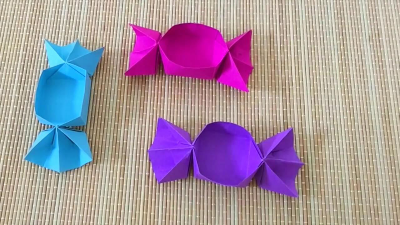 Round origami box