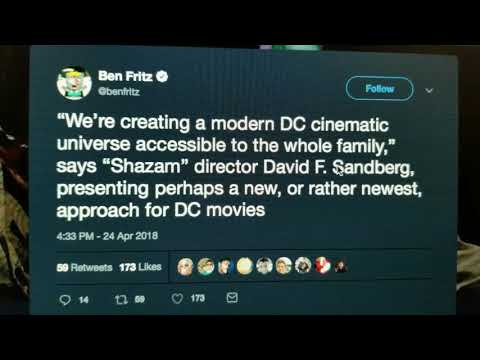 David F. Sandberg Misquoted About The Dc Universe