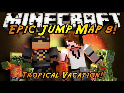 Minecraft: Epic Jump Map Tropical Vacation Part 1!